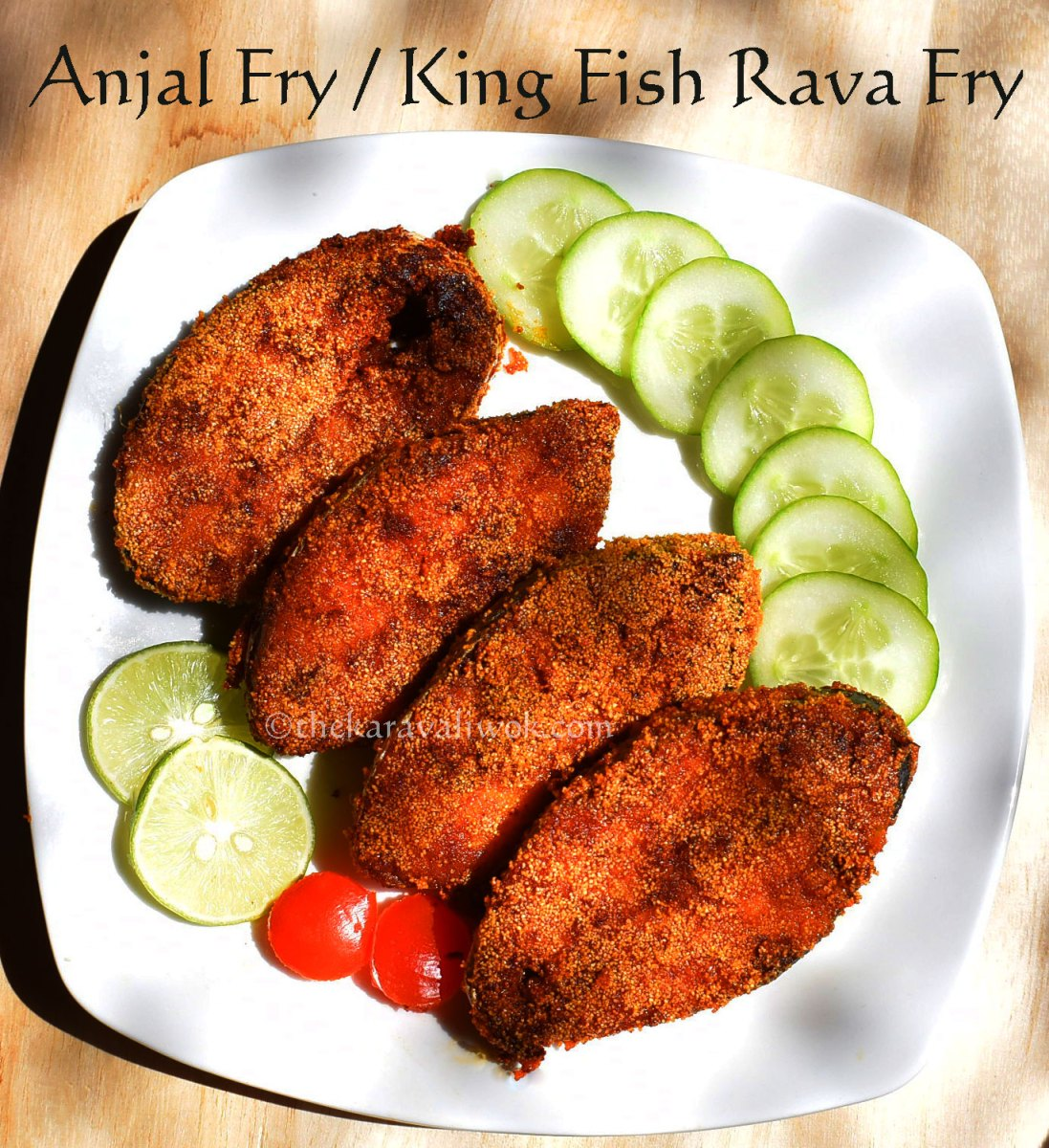 Anjal Fry | King Fish Rava Fry - Mangalorean Style