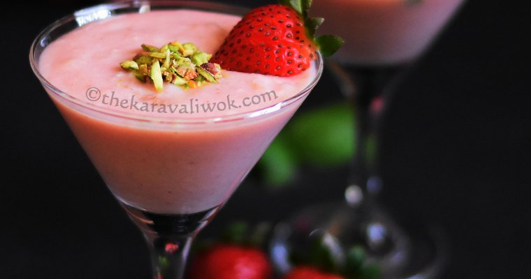 Strawberry Phirni | Strawberry Rice Pudding