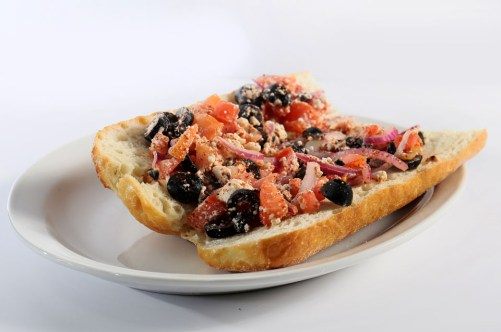 feta bruschetta, Greek food, Mediterranean food, Greek restaurant in Niagara, Mediterranean restaurant in Niagara