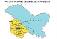 Newly formed maps of UT Jammu & Kashmir and Ladakh