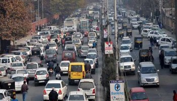 HM's visit creates chaos for traffic - Kashmir Images Newspaper