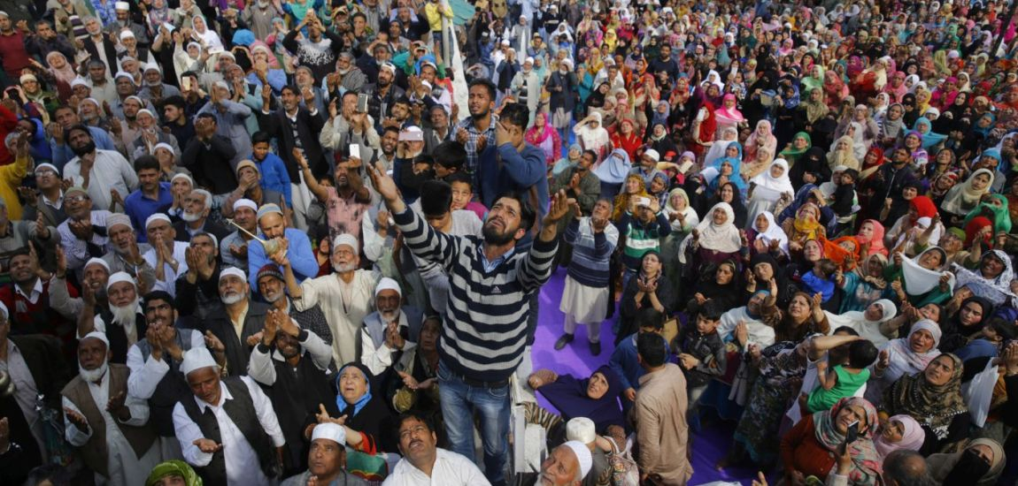 Thousands thronged and prayed at Dargah Hazratbal on Thursday following the Shab …