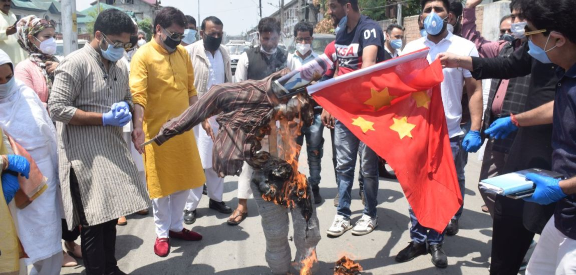 BJP workers hit streets in Srinagar for anti-China protests