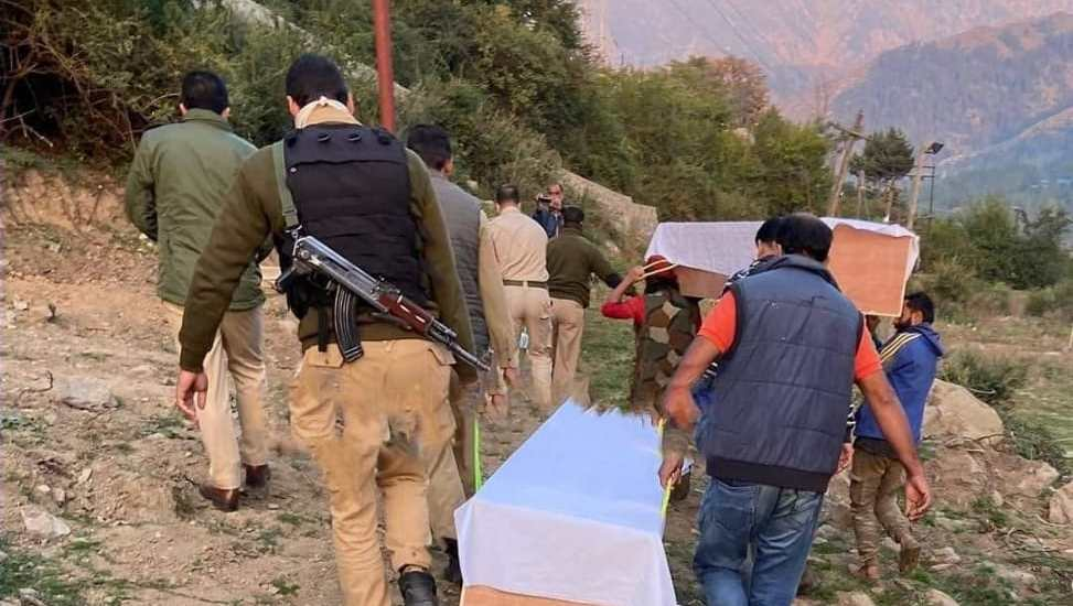 Bodies of Rajouri trio killed in Shopian 'fake' encounter exhumed, handed over to family