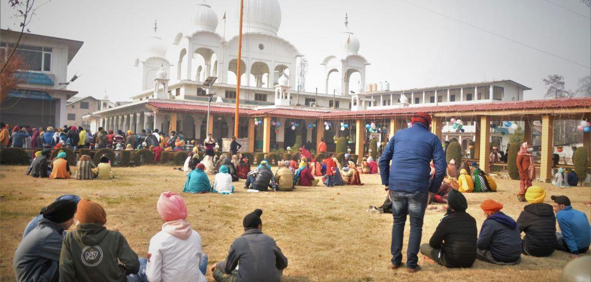 Members of Sikh community throng Gurdawara Chattipadshahi…