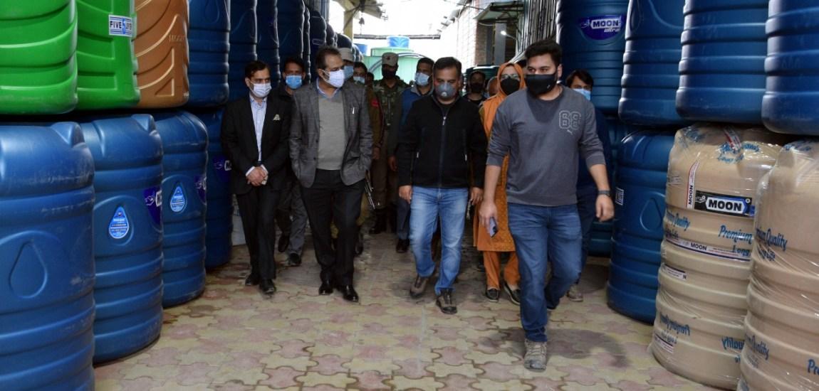Advisor Baseer Khan visits Silk Park and industrial estate Zakura