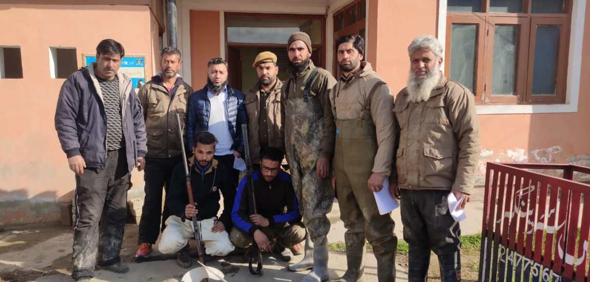 Two poachers arrested with weapons by joint team of FPF and Wildlife officials