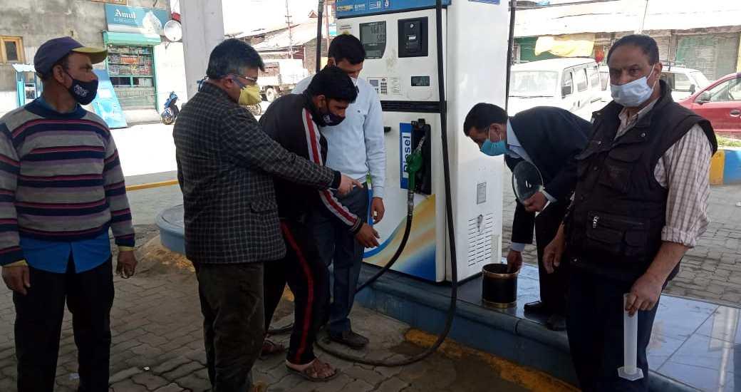 Inspections of petrol pumps conducted at Srinagar