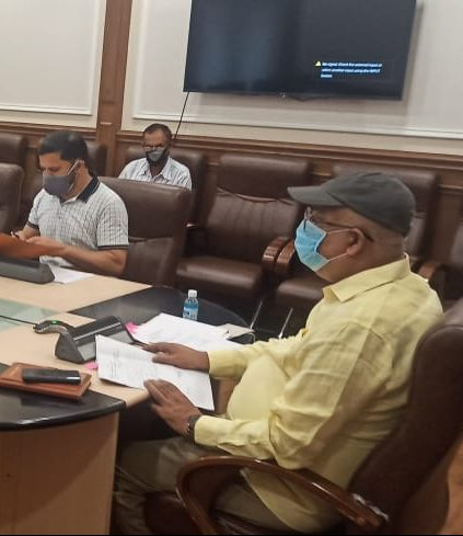 Navin Choudhary reviews functioning of Animal Sheep Husbandry, Fisheries