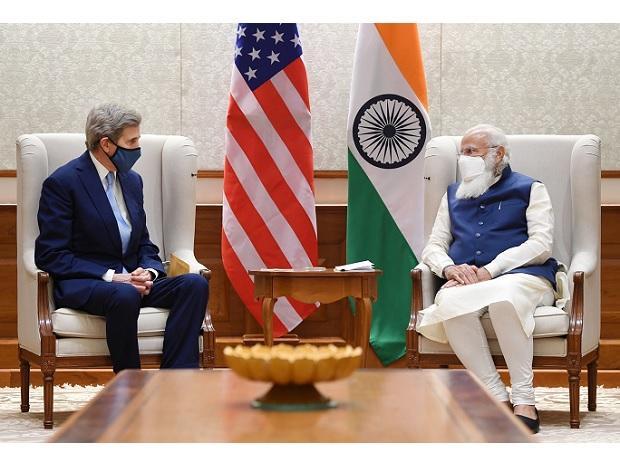 US envoy for climate John Kerry calls on PM Modi