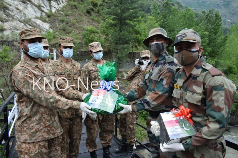 Eid-ul-Fitr: Indo-Pak armies exchange sweets in Karnah sector