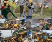 Admin launches anti-encroachment drive along historical water bodies in Srinagar