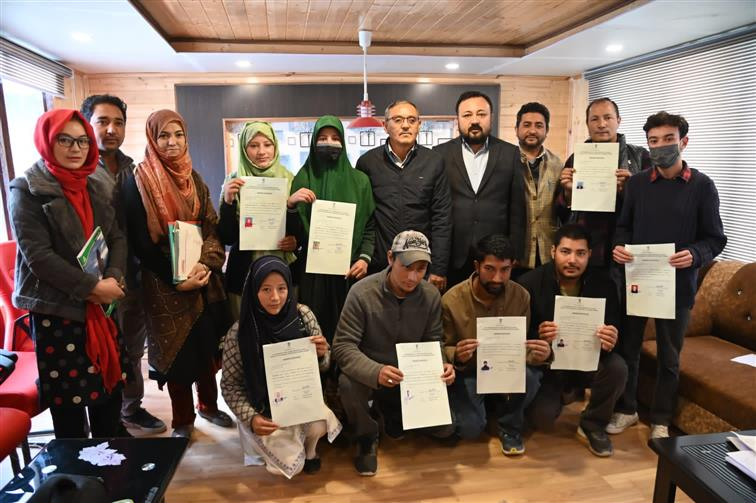 Fatima Banoo becomes first person in Kargil to receive 'Ladakh resident' certificate