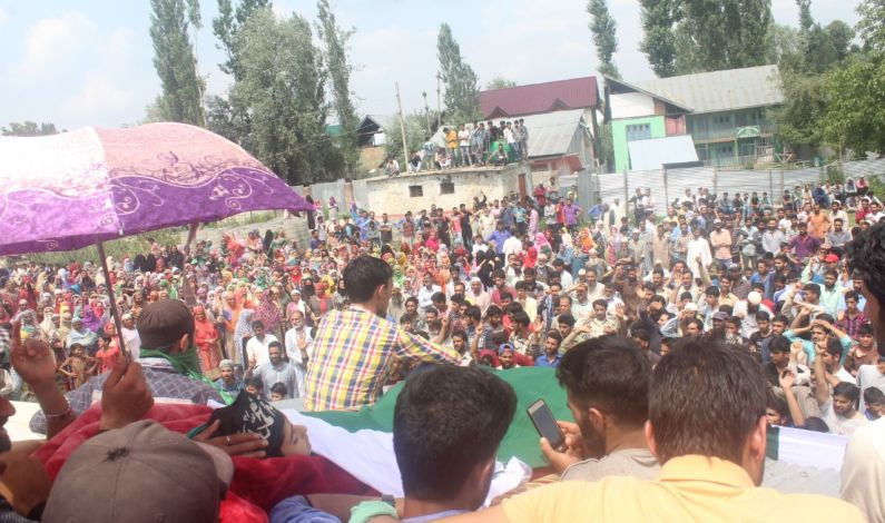 In Pics: Thousands participate in Shopian boys funeral, died after grenade they were fiddling with exploded