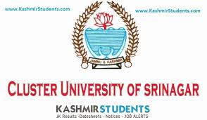 Cluster University Srinagar changes exam center