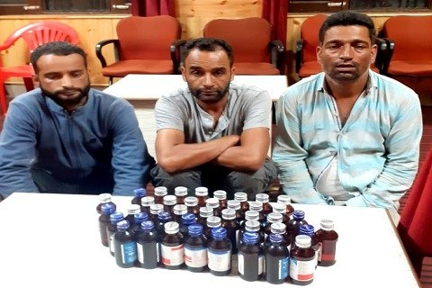 Police arrest three drug peddlers in Sopore, contraband substance seized
