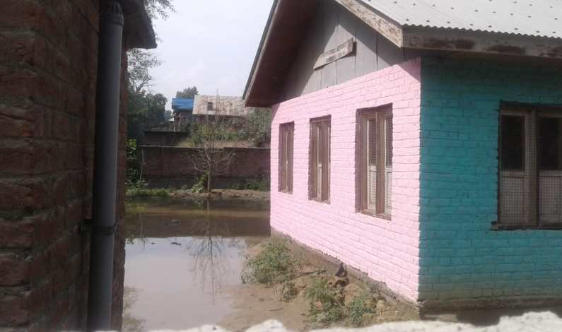 Repeated water-logging issue keeps students away from school in Pulwama