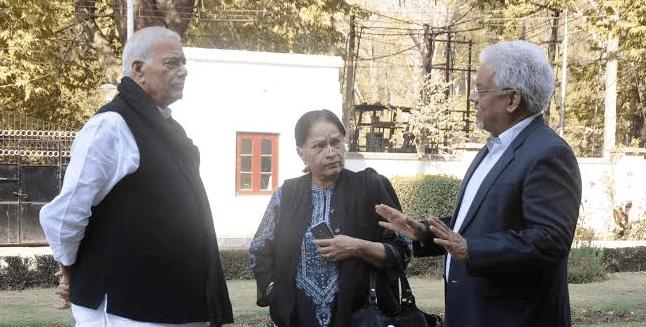 kulgam, Yashwant Sinha, Sushobha Bharve and Bhushan Singh