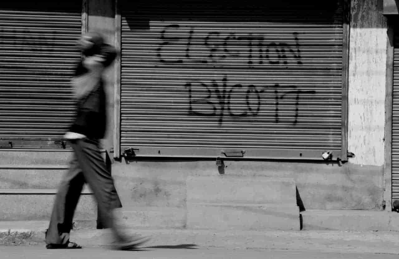 Image result for voting in srinagar