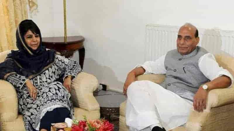 Rajnath singh, mehbooba mufti