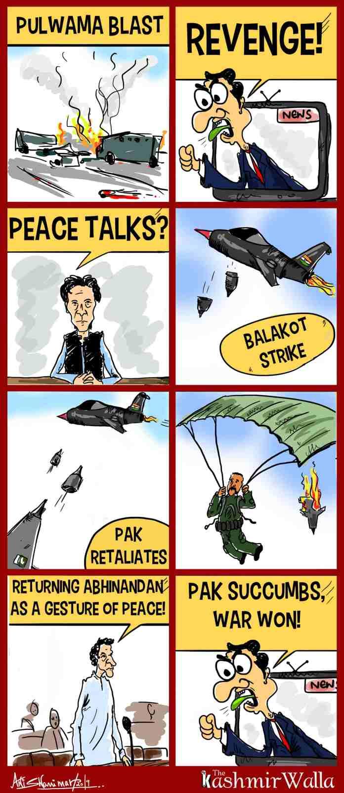 kashmir, india, pakistan, line of control, jammu and kashmir, cartoons,