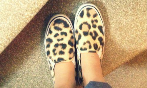 The Kat Edit leopard print slip-on canvas shoes WIWW