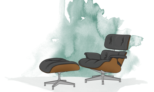 The Kat edit charles eames chair illustration