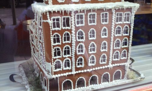 The Kat Edit gingerbread hotel