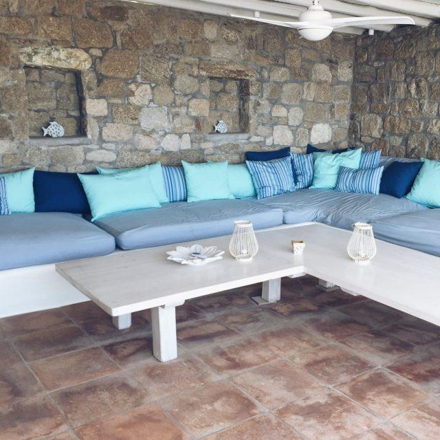 The Kat Edit: quiet side of Mykonos lounge terrace