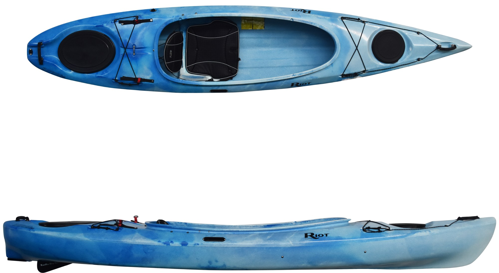 Riot Kayaks Bayside 12, 12ft sit inside touring kayak with skeg