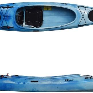 Riot Kayaks Bayside 12, 12ft sit inside touring kayak with skeg