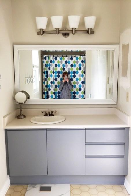 painted vanity, painted vanity mirror