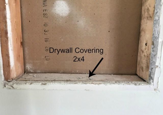 medicine cabinet, dry wall