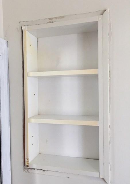 medicine cabinet, remove cabinet, remove cabinet trim