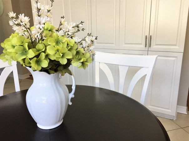 How I Stained And Painted My Pedestal Kitchen Table Kay