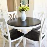 How I Stained and Painted My Pedestal Kitchen Table