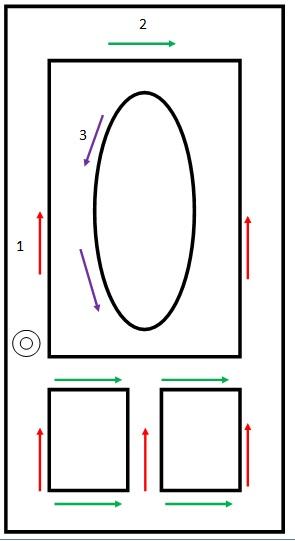 Front door painting diagram