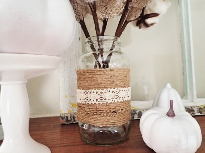 Jute cotton stem jar