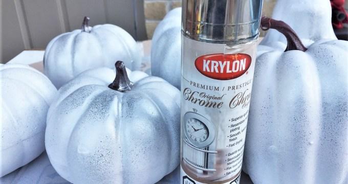 Spray Painted Pumpkins