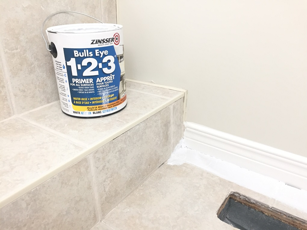 Painted Tile, Primer Zinsser 123