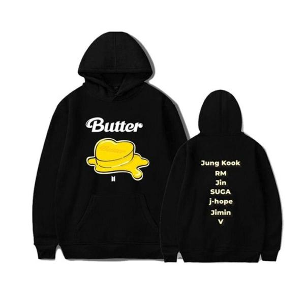 "Hoodies & Sweatshirts Bangtan Boys New ""Butter"" Merch - The Kdom"