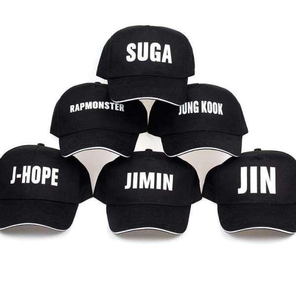 Baseball Caps 2018 BTS Members Name Cap - The Kdom
