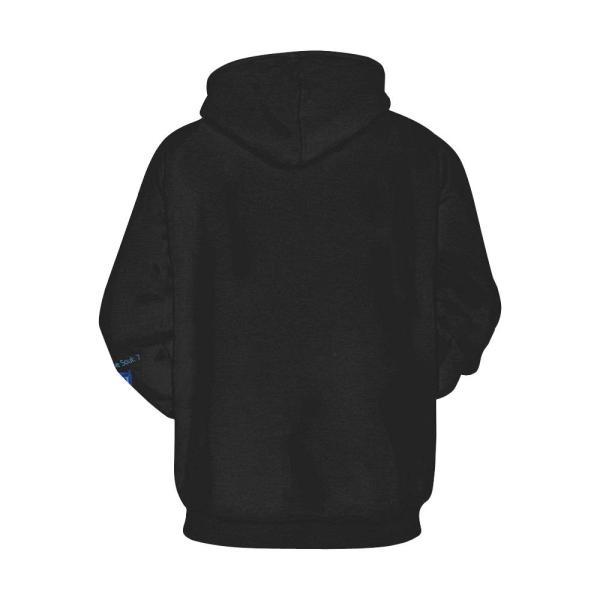 All-over Hoodies Black Unisex Swan 7 Black Hoodie - The Kdom
