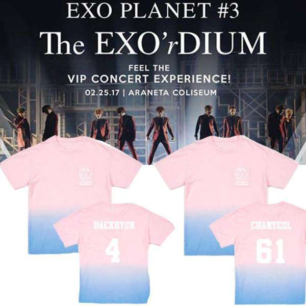 T-Shirts EXO Pink Gradient T-shirt - The Kdom