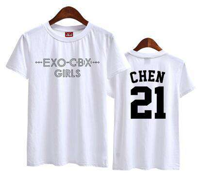 T-Shirts Summer EXO Short Sleeves t-shirt - The Kdom
