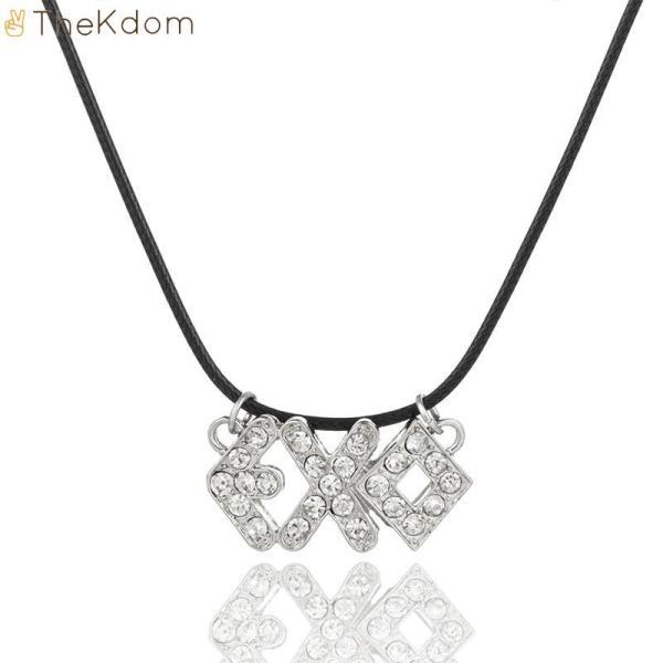 Pendant Necklaces EXO zircon Pendant Necklace - The Kdom