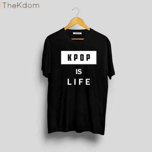 """T-Shirts """"Kpop is life"""" Cotton Tee - The Kdom"""