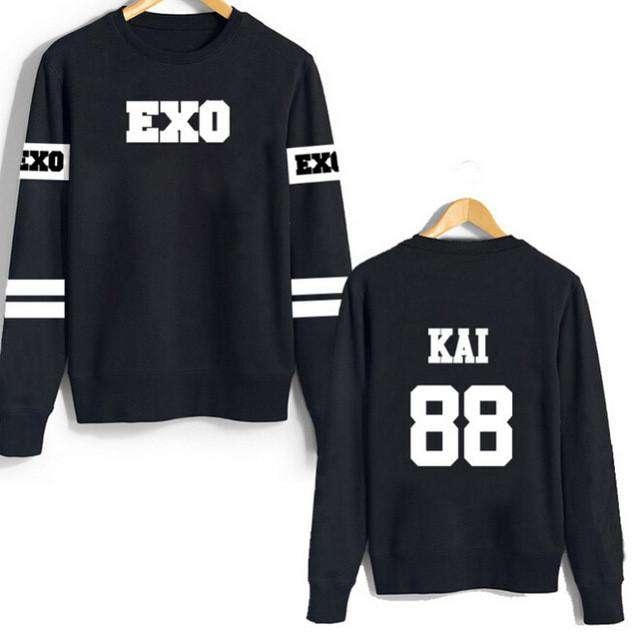 Sweaters EXO Member Number Sweatshirt - The Kdom