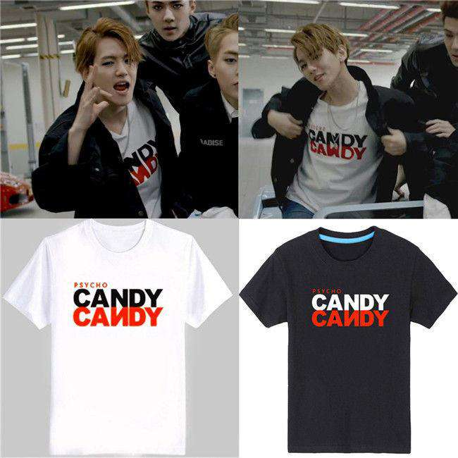 "T-Shirts EXO Baekhyun Style ""Candy"" T-Shirt - The Kdom"