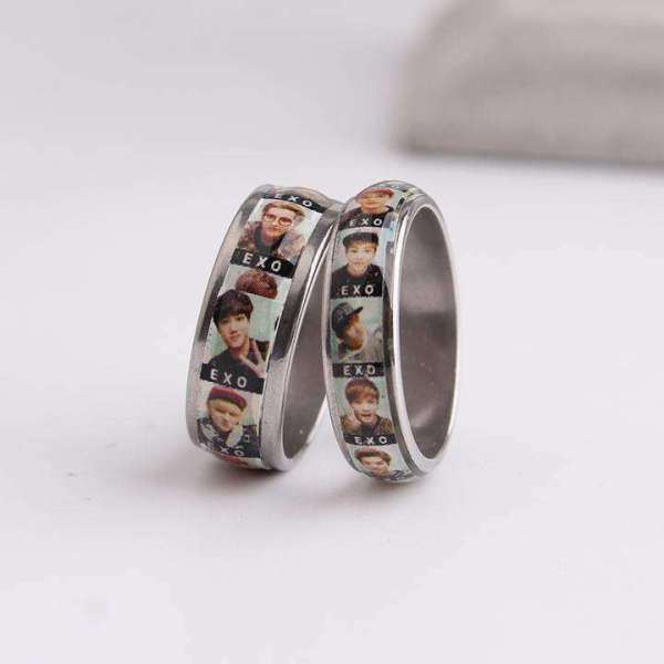 Rings EXO Members Photo Ring - The Kdom